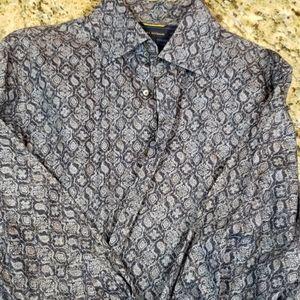 Mens Long Sleeve Dress/Causal Shirt